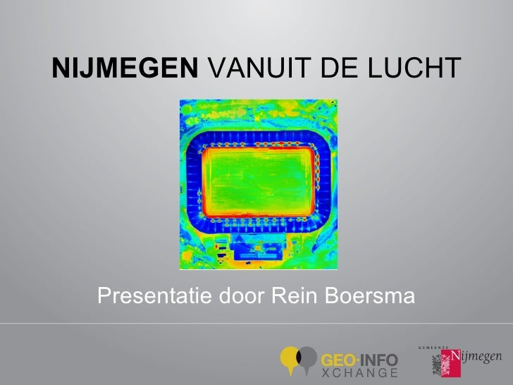 NIJMEGEN  VANUIT DE LUCHT Presentatie door Rein Boersma