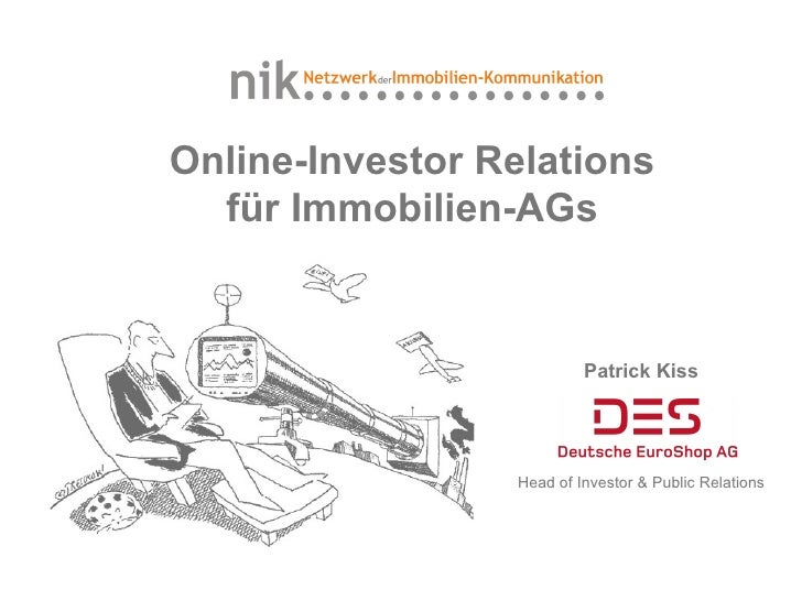 Online-Investor Relations für Immobilien-AGs
