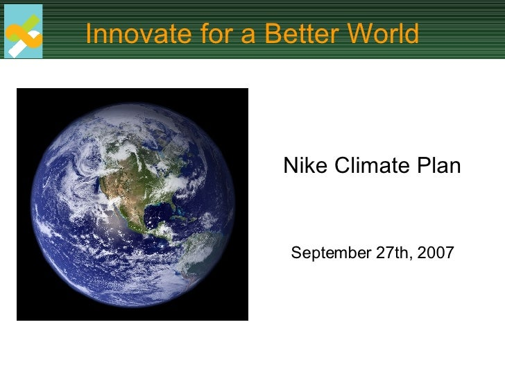 Nike Climate Story