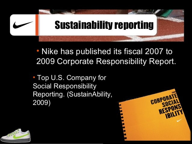 Nike Named Top U.S. Company for Social Responsibility Reporting