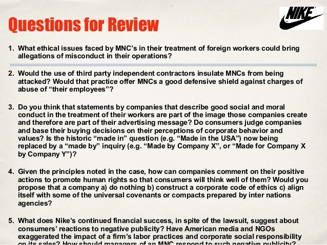 nike unethical practices essay example