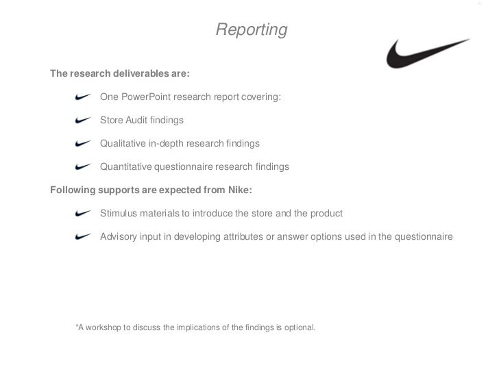 Write my nike research paper