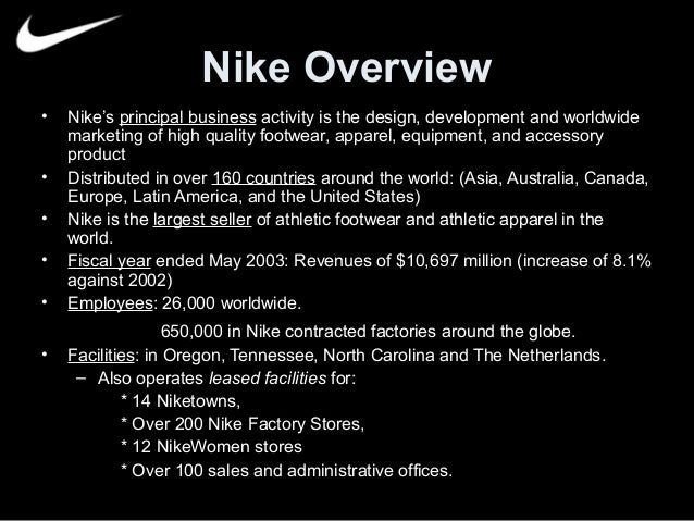 nike company description