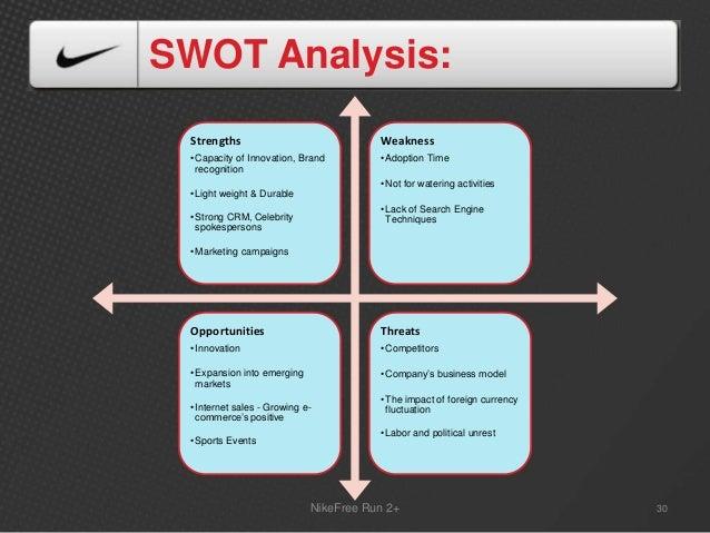 marketing and nike swot analysis