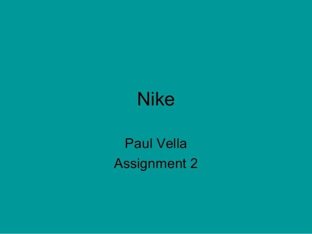 Nike Paul Vella Assignment 2