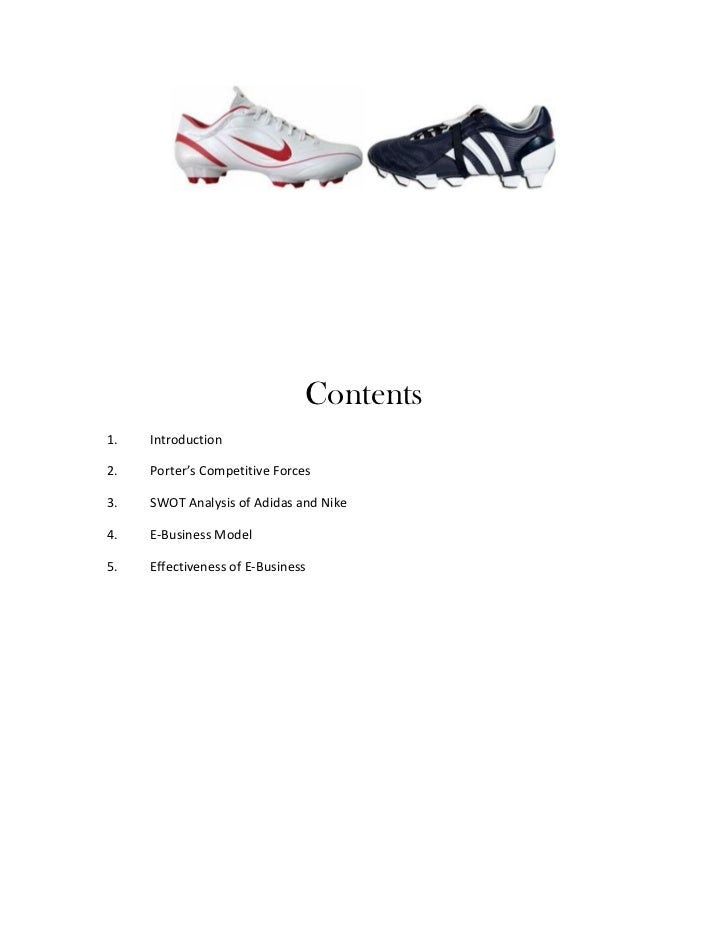 nike versus adidas case study and competitive analysis The analysis of the current adidas brand  adidas brand design study  adidas is mainly targeting competitive sports based on innovation and.