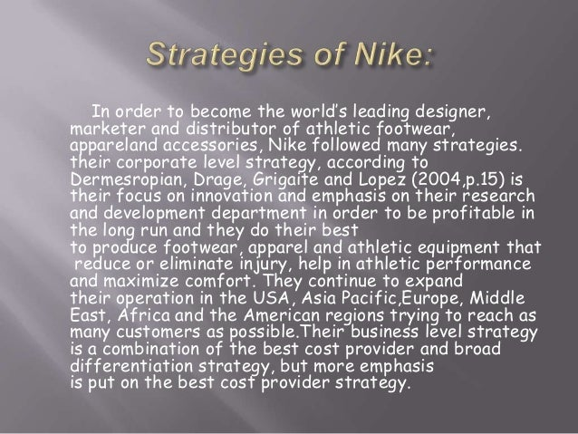 nike inc essay Weaknesses nike essay vision is a phrase or sentence that tells where the company wants to be in the future in the case of nike, its vision is to become a truly.