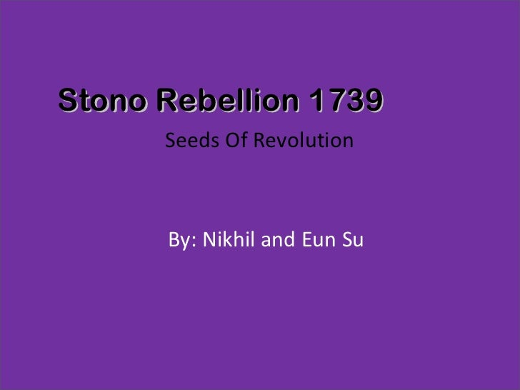 an analysis of the topic of the african dimensions of the stono rebellion Black rice: the african  negroes in colonial south carolina from 1670 through the stono rebellion)  in terms of breadth of research and the very topic.