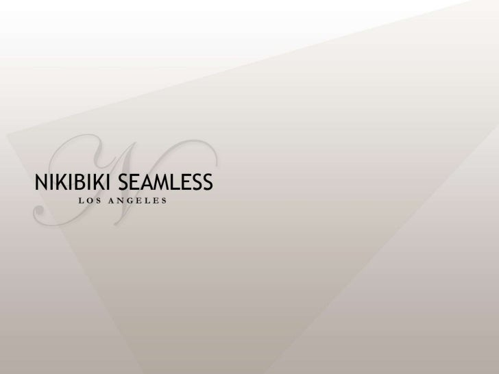 Introduction to Nikibiki's Seamless Apparel
