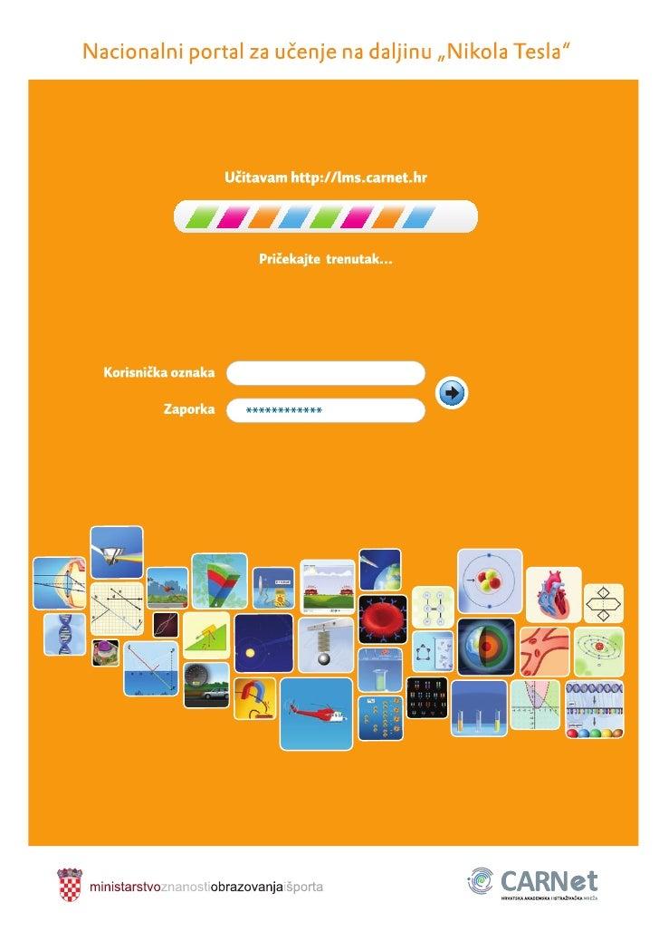 """Brošura: Nacionalni portal za učenje na daljinu """"Nikola Tesla"""""""