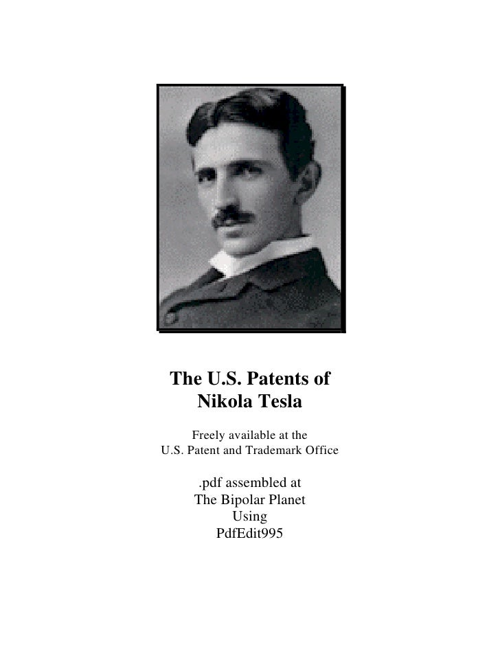 Nikola Tesla - All U.S. Patents of Nikola Tesla 499 pages