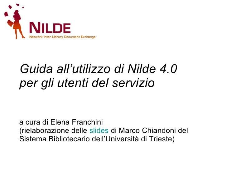 Nilde4.0 Utenti