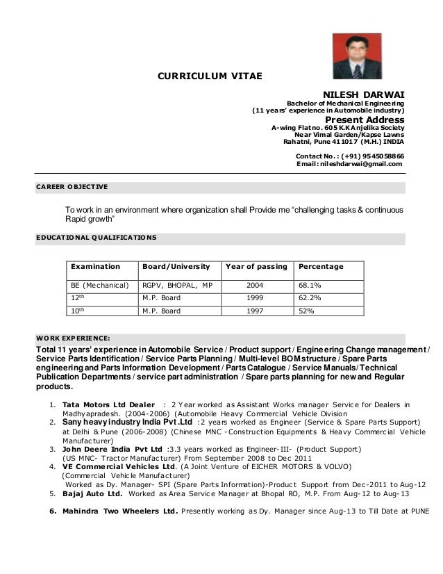 resume for automobile industry 28 images best summer