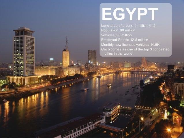 EGYPTLand-area of around 1 million km2 Population 90 million Vehicles 5.8 million Employed People 12.5 million Monthly new...