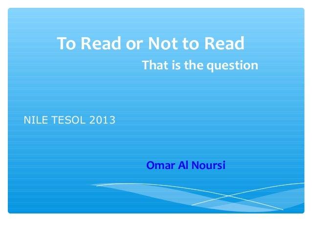 Nile tesol2013 dr.omar