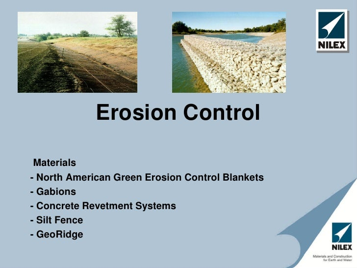 Erosion Control Materials- North American Green Erosion Control Blankets- Gabions- Concrete Revetment Systems- Silt Fence-...