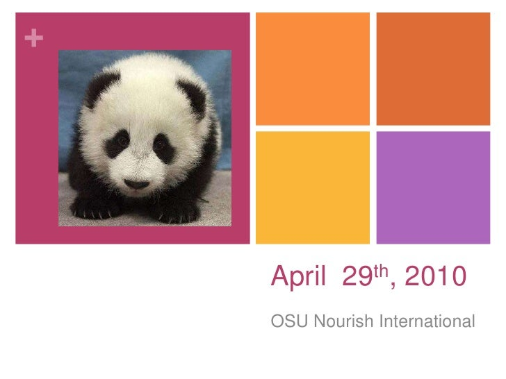 April  29th, 2010<br />OSU Nourish International <br />