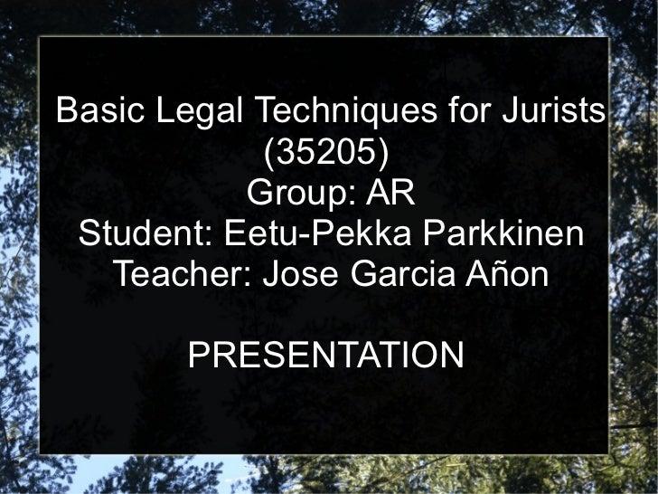 Basic legal presentation