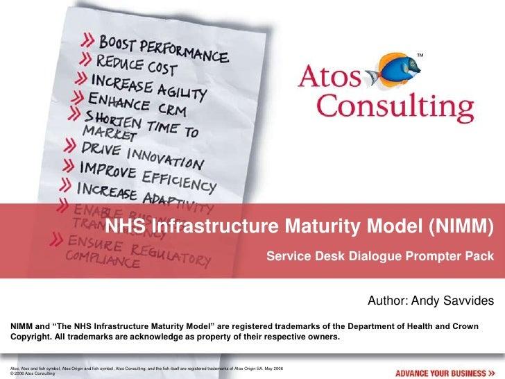 NHS Infrastructure Maturity Model (NIMM)                                                                                  ...