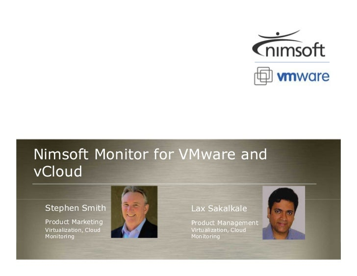 Nimsoft Monitor for vCloud