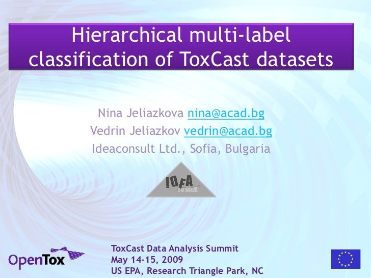 Hierarchical multi-label classification of ToxCast datasets