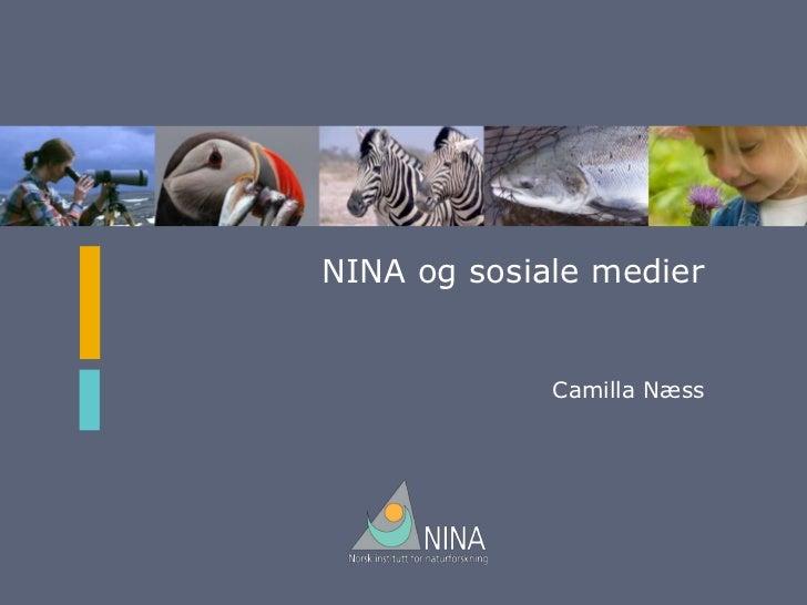 NINA og sosiale medier             Camilla Næss