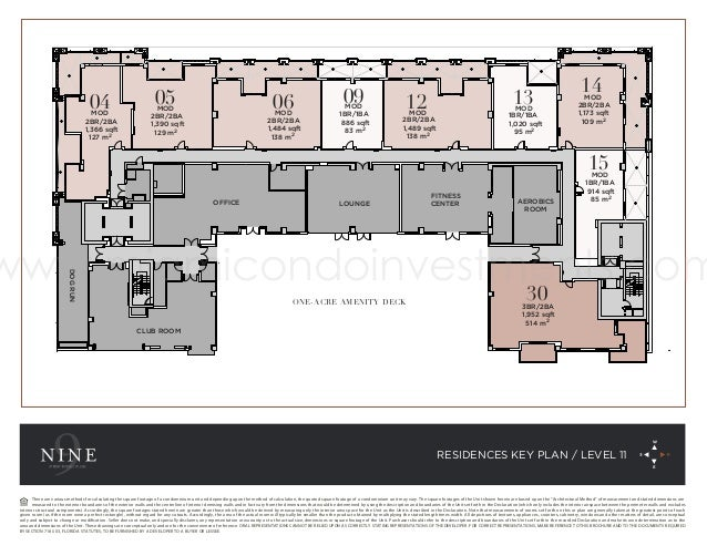 Nine at Mary Brickell Village Floor Plans and Site Plan