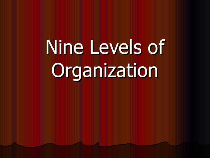 Nine Levels of Organization