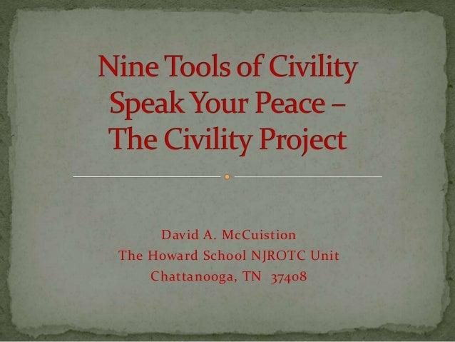 David A. McCuistion The Howard School NJROTC Unit Chattanooga, TN 37408