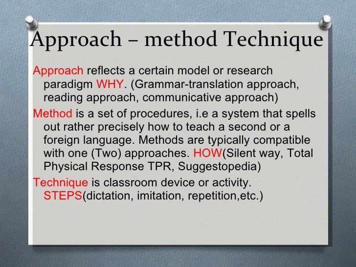 approach method and technique comparison A comparison between epa compendium method to- difference lies not in the analytical technique in selecting the appropriate analytical method approach.