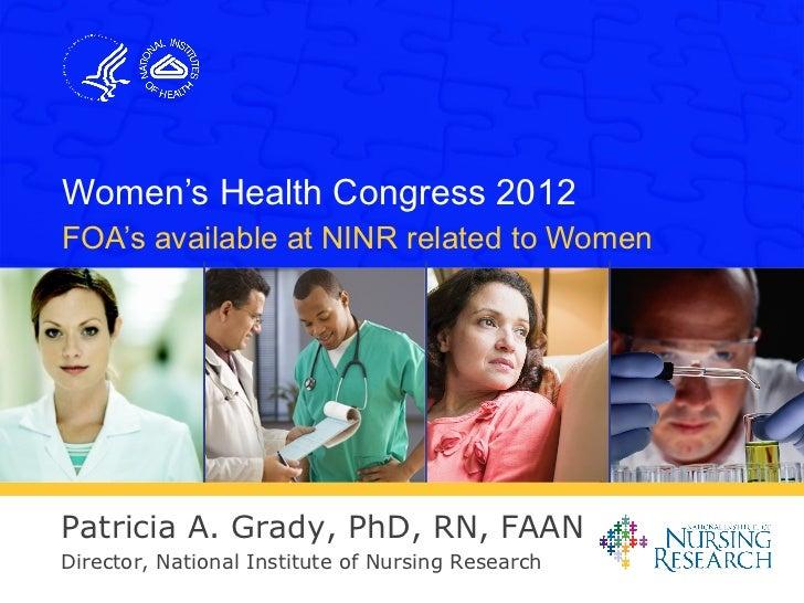 Ninr ppt womens congress 2012