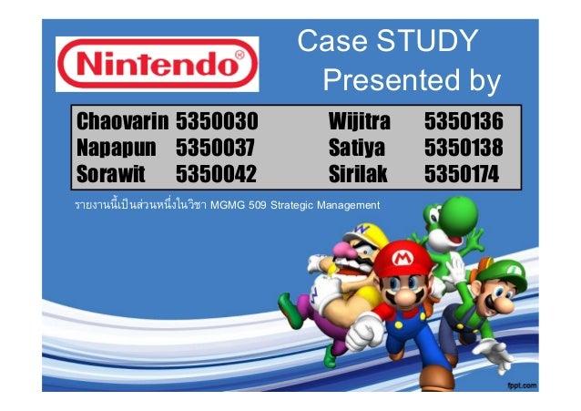 Case Stydy of Stratigic Management for Nintendo