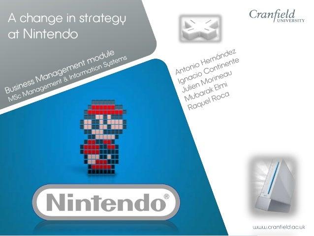 A change in strategyat Nintendo