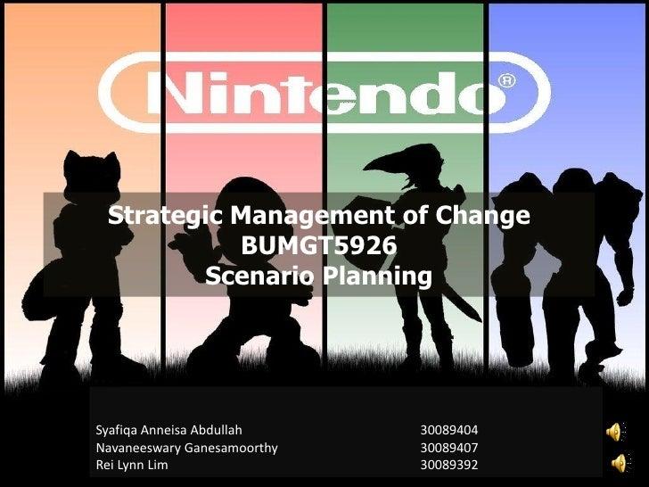 Nintendo Ltd, strategic management of change, 2012
