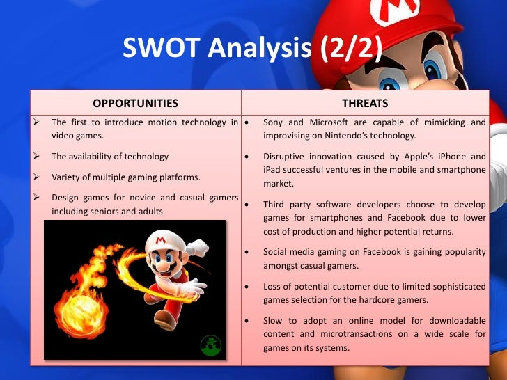 strength weaknesses opportunities threats swot analysis for sony The swot analysis of sony corporation will discuss the strengths and weaknesses of, and the opportunities and threats for sony sony offers its two types of customers sony produces products for its consumers (b2b) and other businesses (b2c) as well.