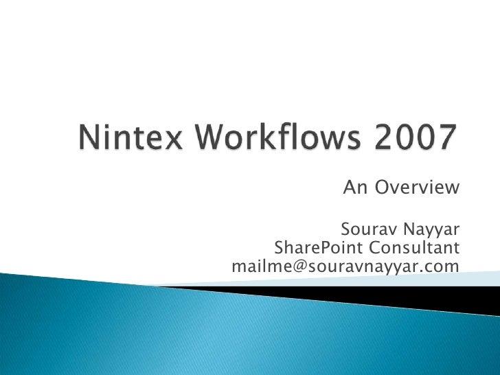 Nintex Workflows 2007 Evaluation