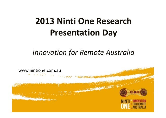 Ninti One research presentation day Theme 1 Productive Landscapes
