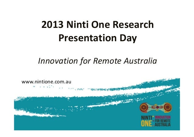 Ninti One research presentation day Theme 3: Community and Culture