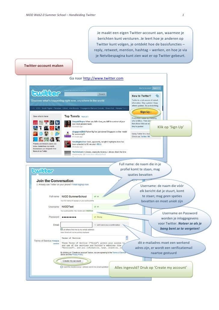 NIOD Summer School Handleiding Twitter