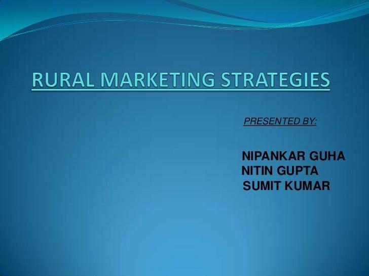 Rural marketing strategies