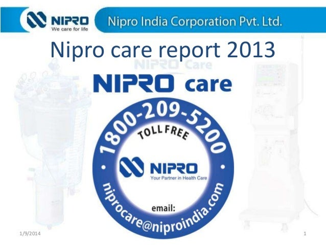 Nipro care report 2013  1/9/2014  1