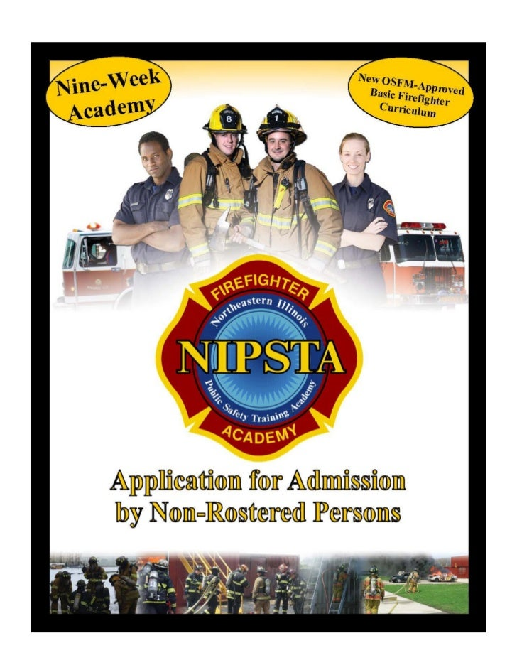 NIPSTA Fire Academy Application for Admission
