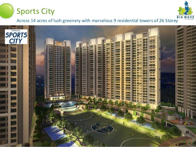 Sports City   Across 14 acres of lush greenery with marvelous 9 residential towers of 26 StoreyA Project By:              ...