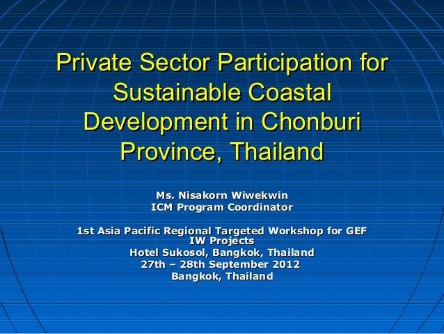 Nisakorn Wiwekwin - PEMSEA ICM Chonburi Presentation