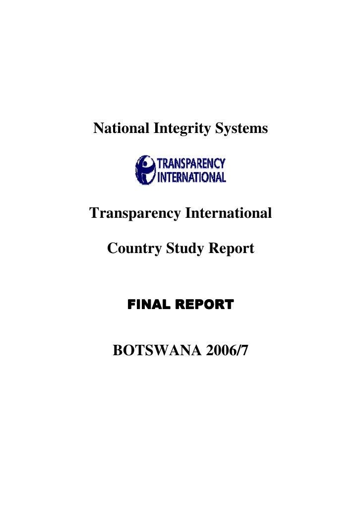 NIS otswana report_2007