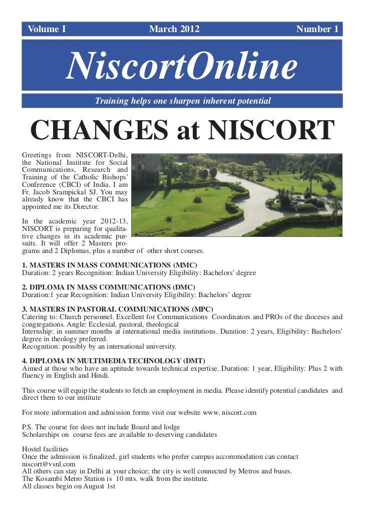 Niscort online march 2012