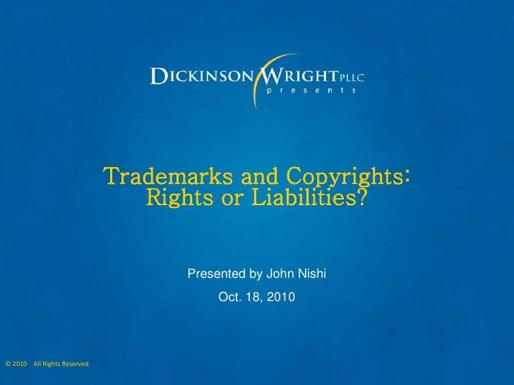 October 2010 - Business Law & Order - John Nishi
