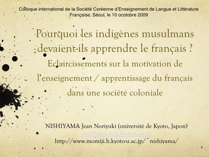 Colloque international de la Société Coréenne d'Enseignement de Langue et Littérature                          Française, ...