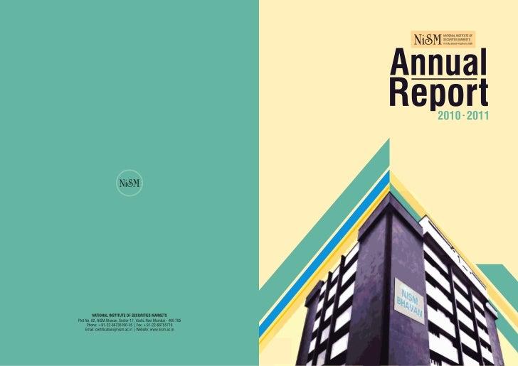 Nism annual report 2010 2011