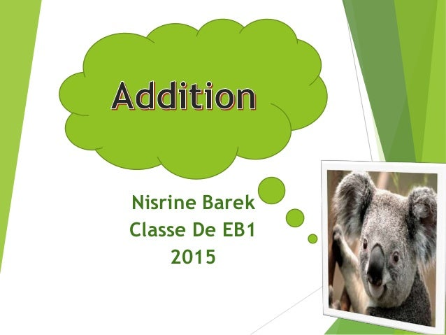 Nisrine Barek Classe De EB1 2015